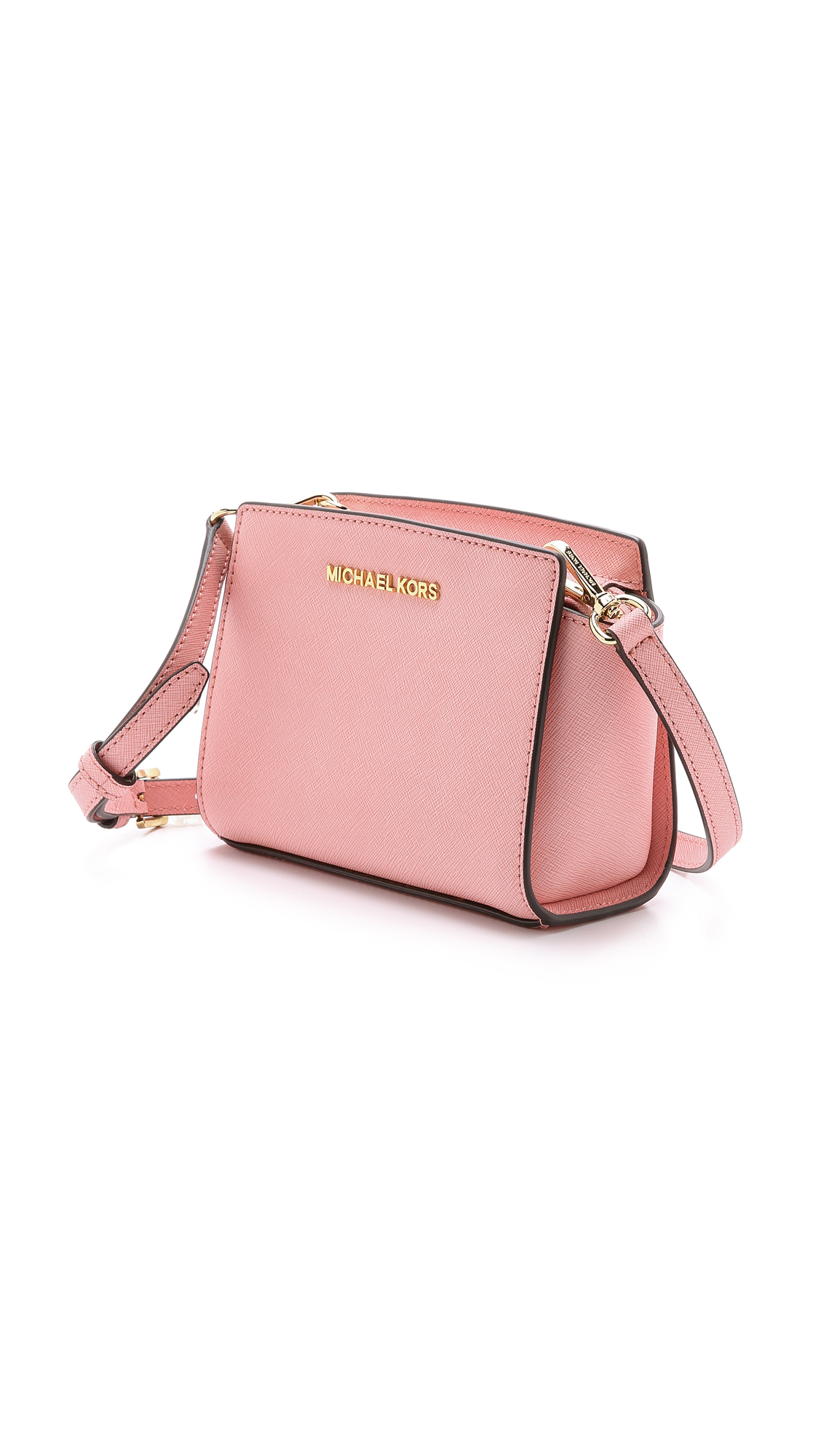 ac83a4f4d2 Lyst - MICHAEL Michael Kors Selma Mini Messenger Bag - Pale Pink in Pink