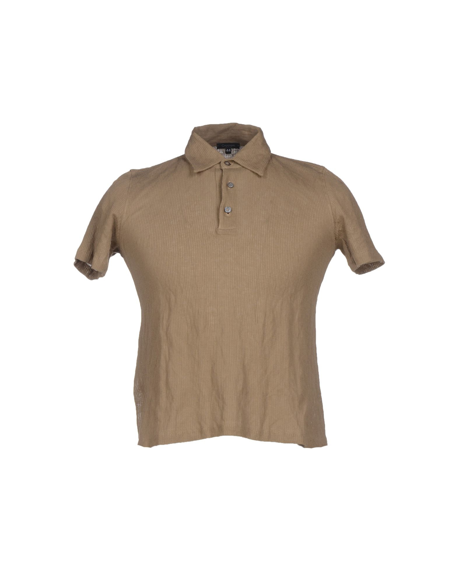Lyst cruciani polo shirt in brown for men for Light brown polo shirt