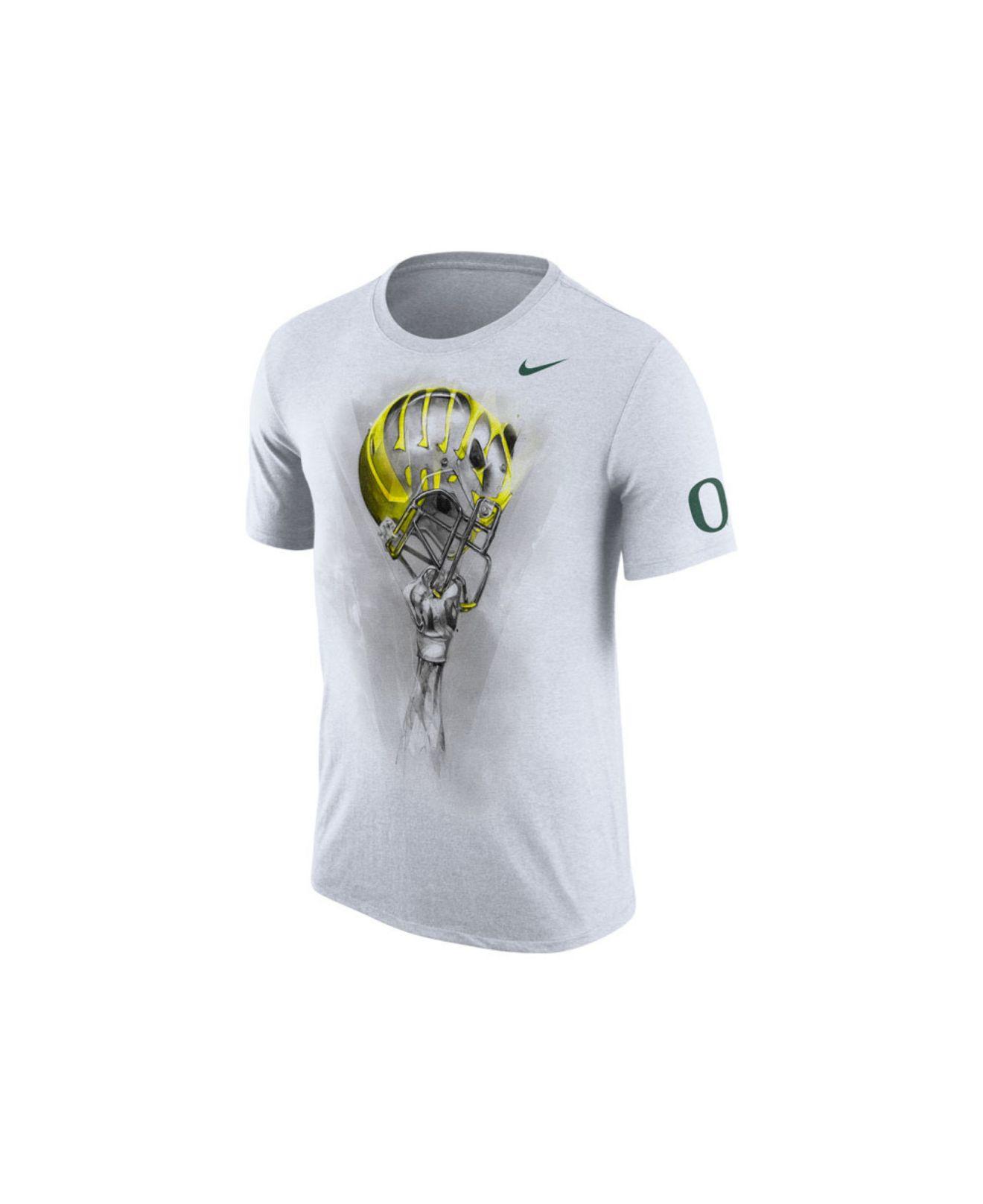 Lyst - Nike Men's Oregon Ducks Helmet T-shirt in White for Men