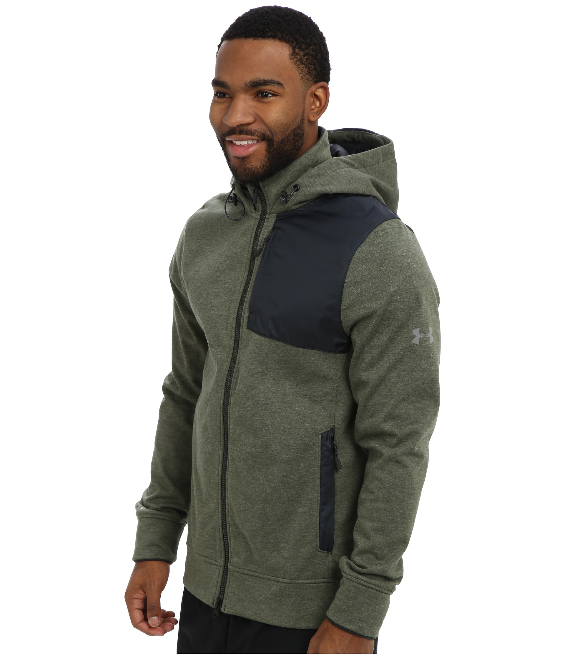 lyst under armour ua element breaker hoodie in gray for men. Black Bedroom Furniture Sets. Home Design Ideas