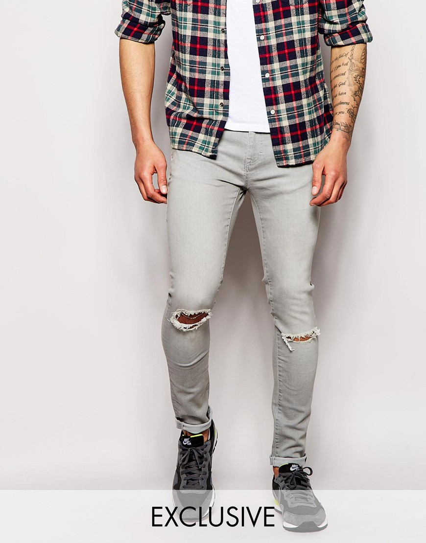 Wåven Exclusive To Asos Jeans Erling Spray On Super Skinny Fit ...