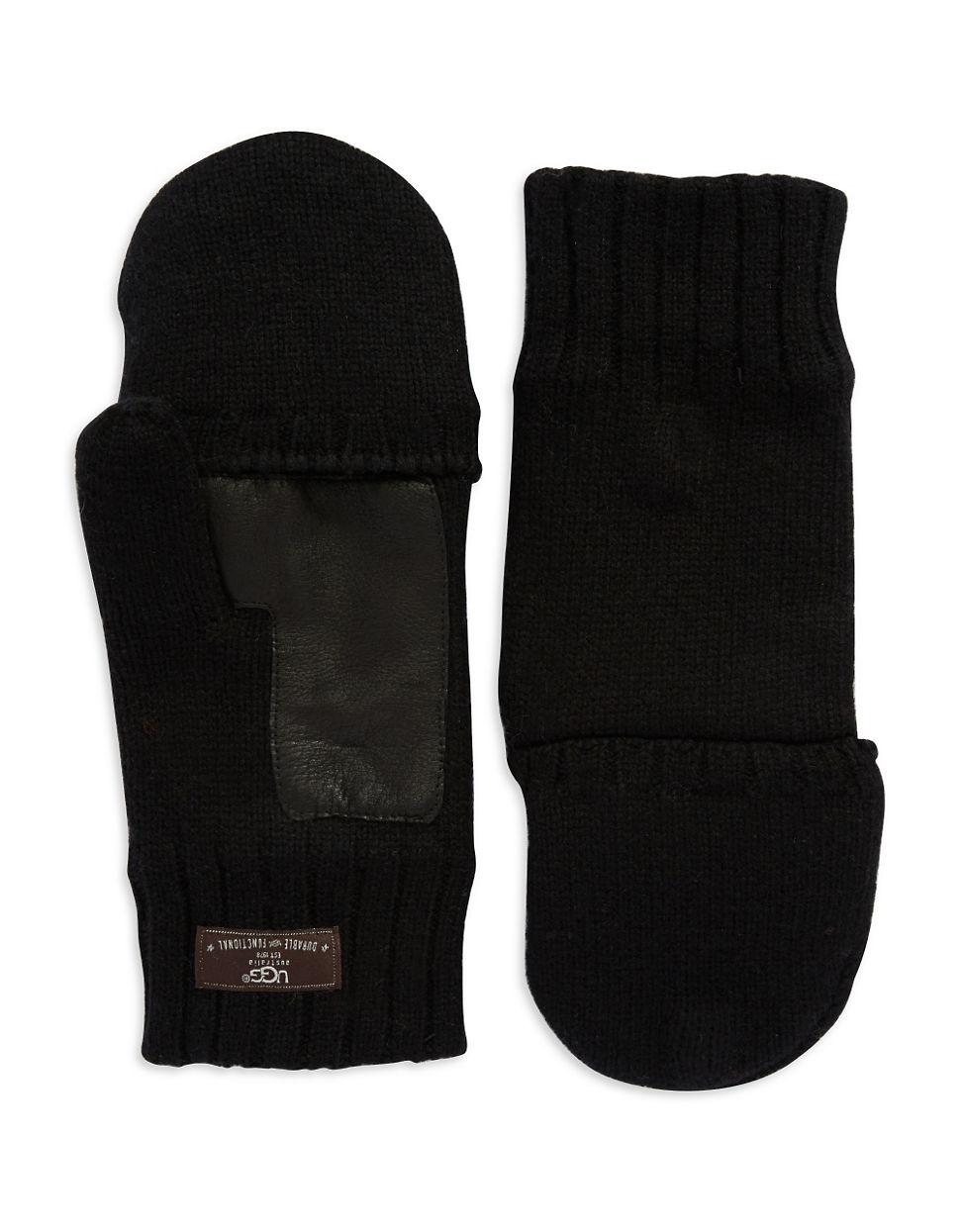 ugg fingerless fur gloves