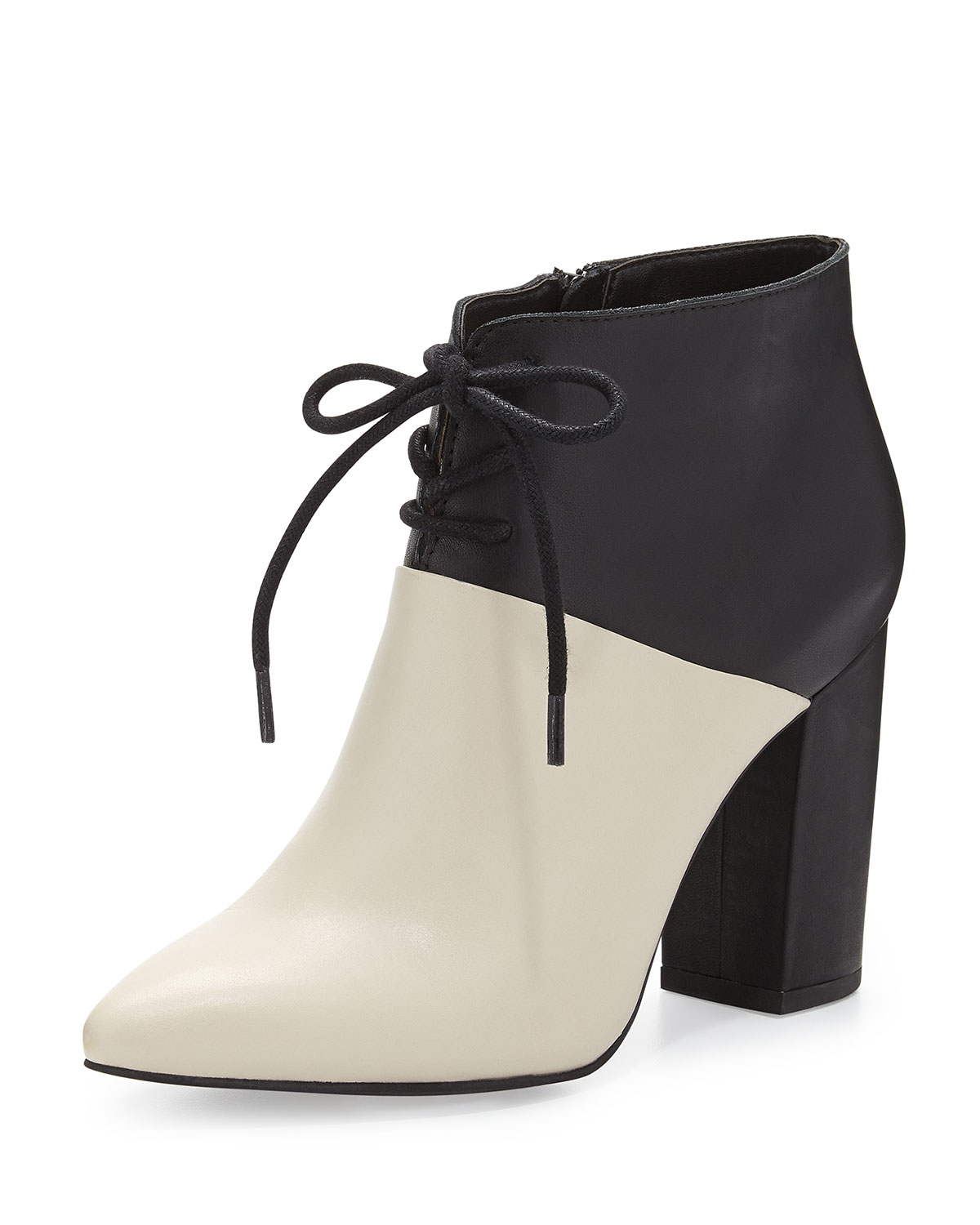 ff8f86f17277cb Seychelles Nonchalant Colorblock Leather Ankle Bootie in White - Lyst