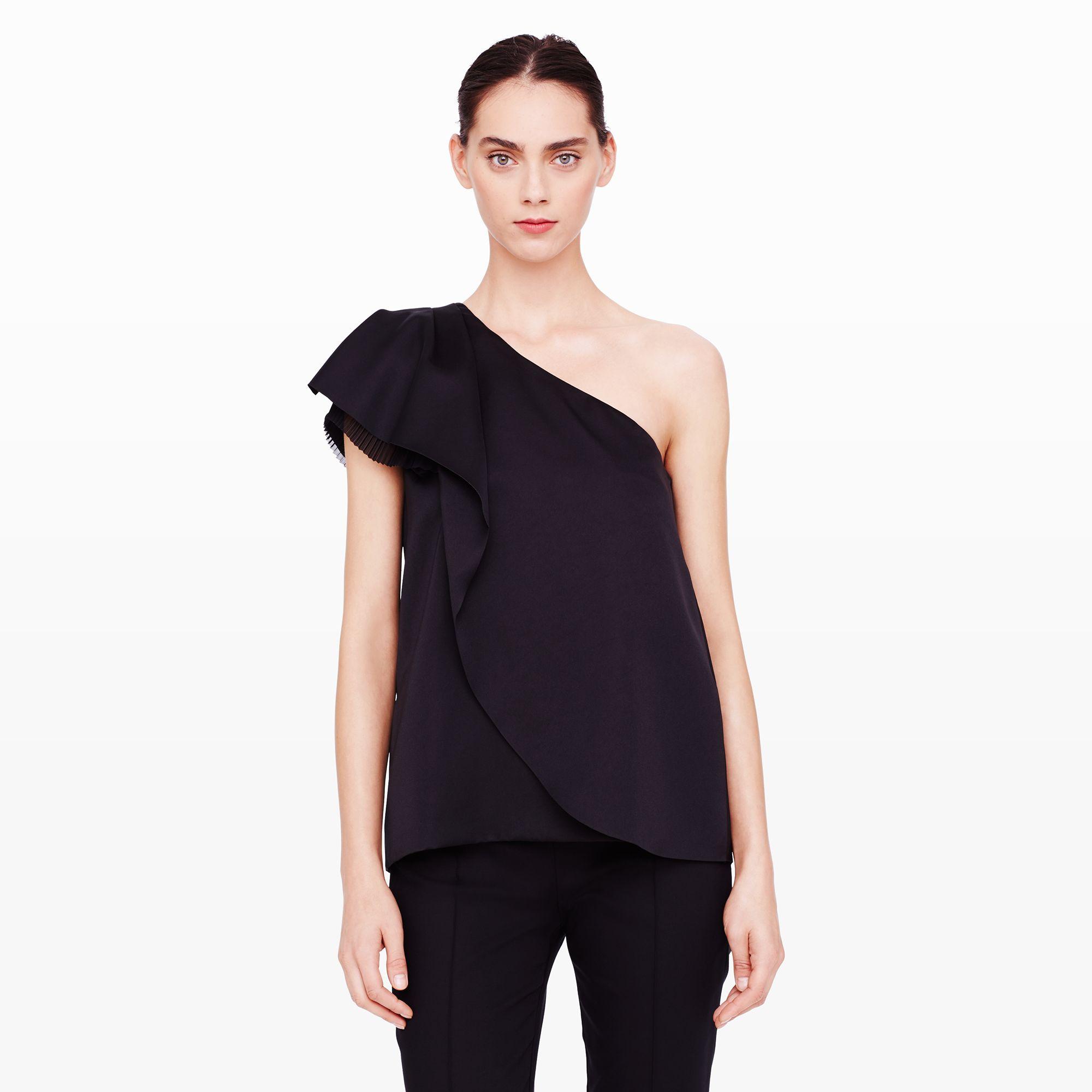 0890c2970733 Lyst - Club Monaco Elsa One-shoulder Top in Black