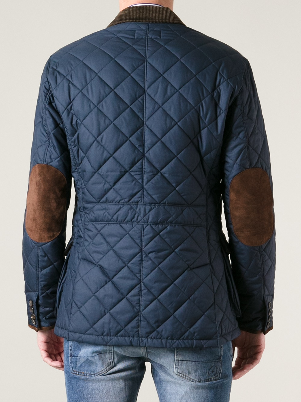 Polo Ralph Lauren Quilted Jacket in Blue for Men - Lyst