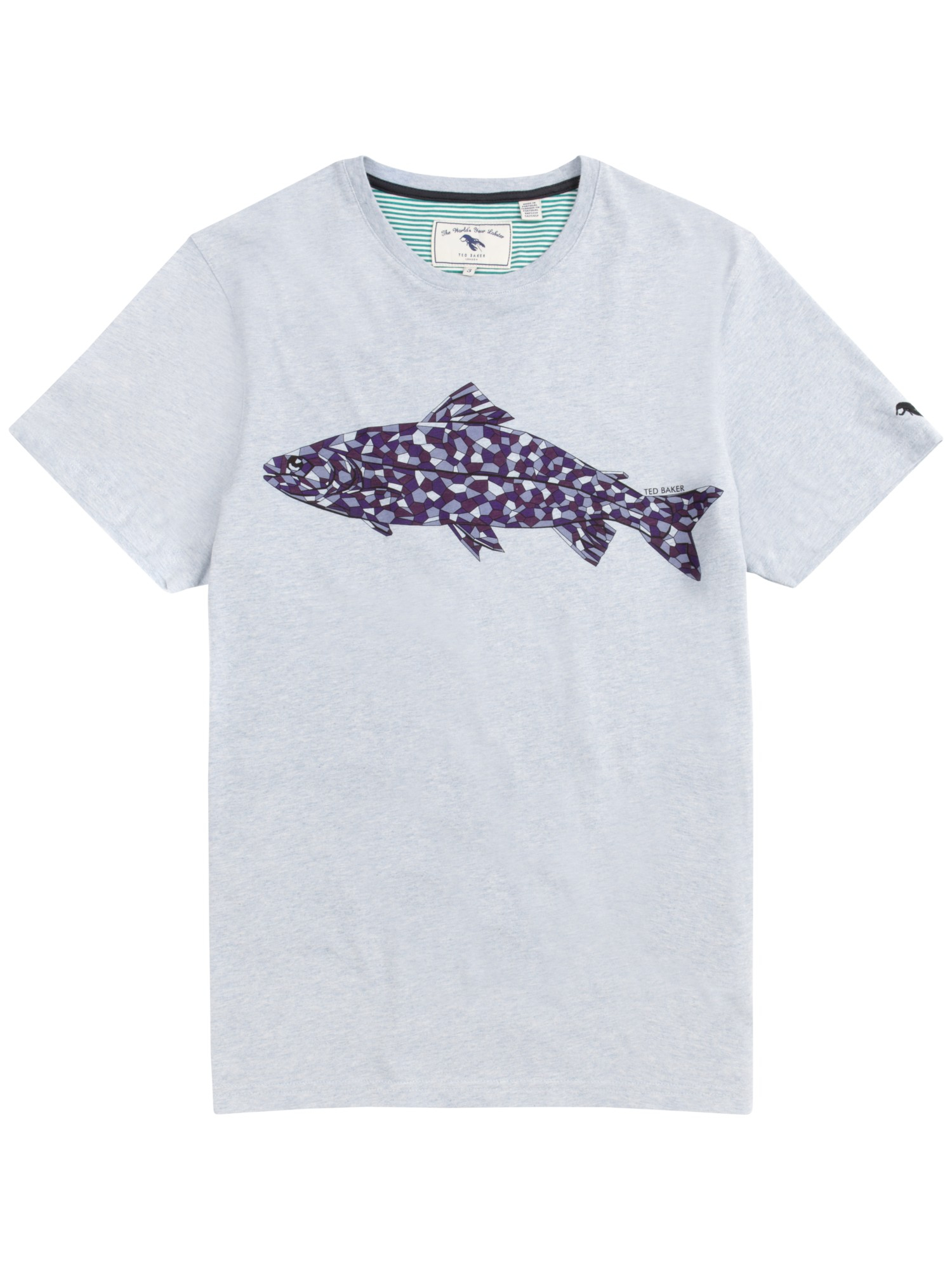 ee9f75bc2134 Ted Baker Ewell Fish Print T-Shirt in Blue for Men - Lyst