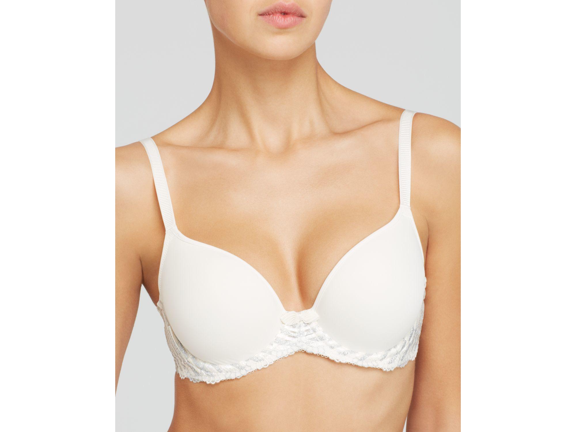 8d3f7cff02 Lyst - Wacoal Bra - La Femme Contour Demi  853217 in White
