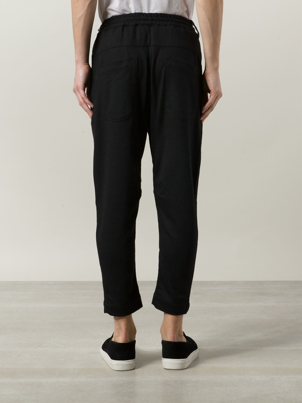 Chapter Cropped Trousers in Black for Men