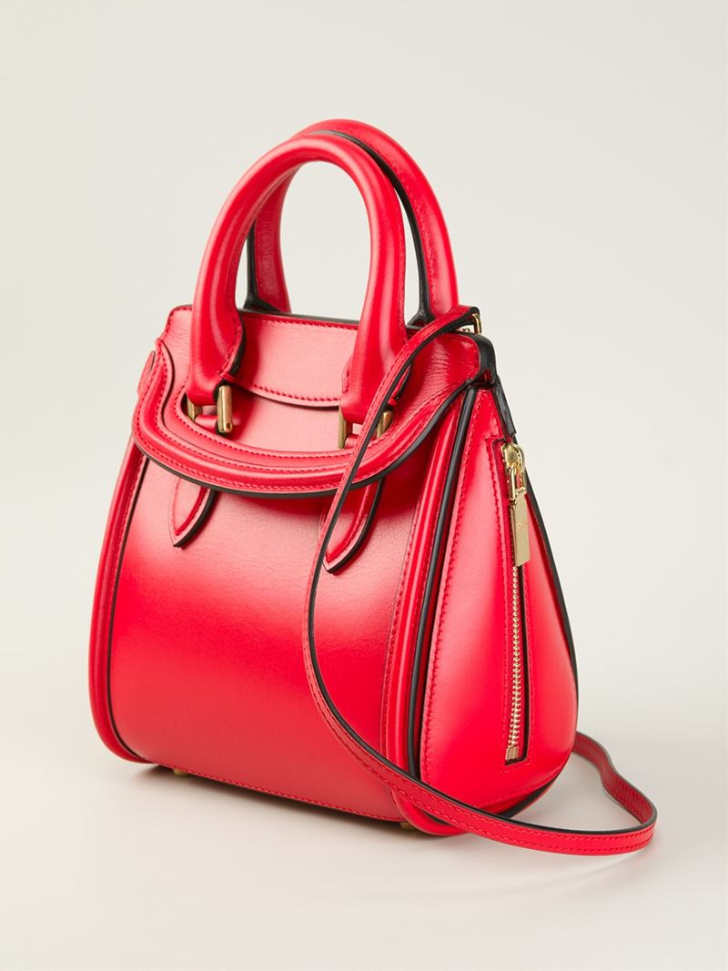 05bfb9738ff96 Alexander McQueen Mini 'Heroine' Tote in Red - Lyst