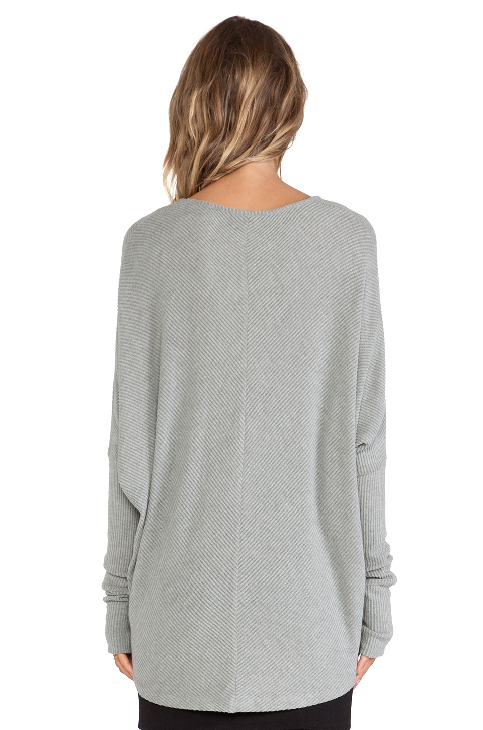 sen grace pullover sweater in gray heather grey lyst. Black Bedroom Furniture Sets. Home Design Ideas