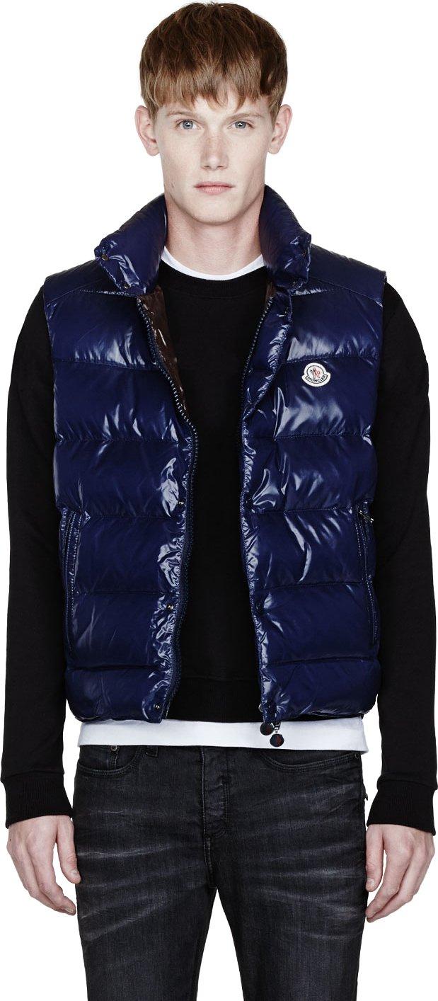 moncler navy blue vest