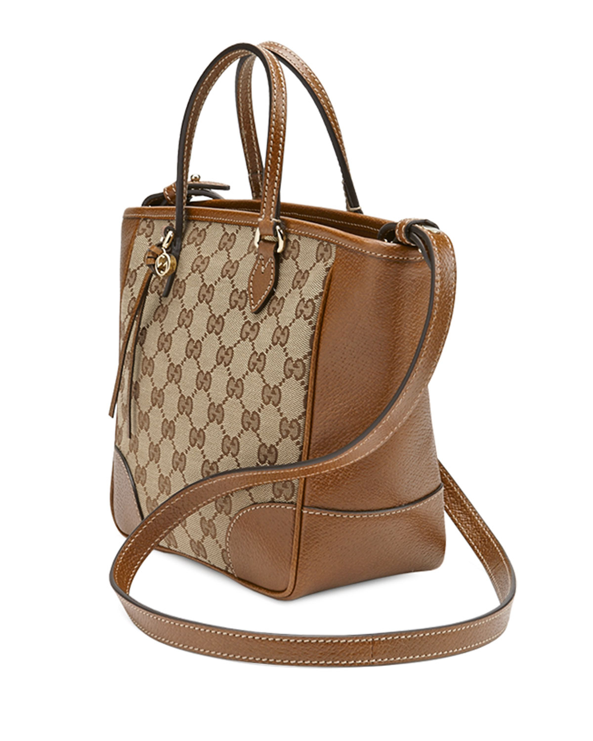 72216e37a6e Lyst - Gucci Bree Small Gg Canvas Tote Bag in Brown
