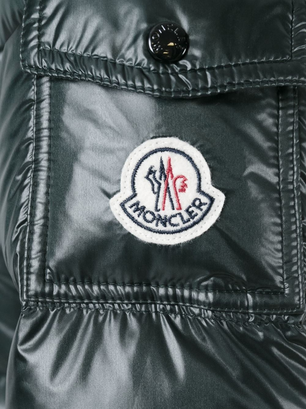 Moncler 'berre' Padded Jacket in Green for Men