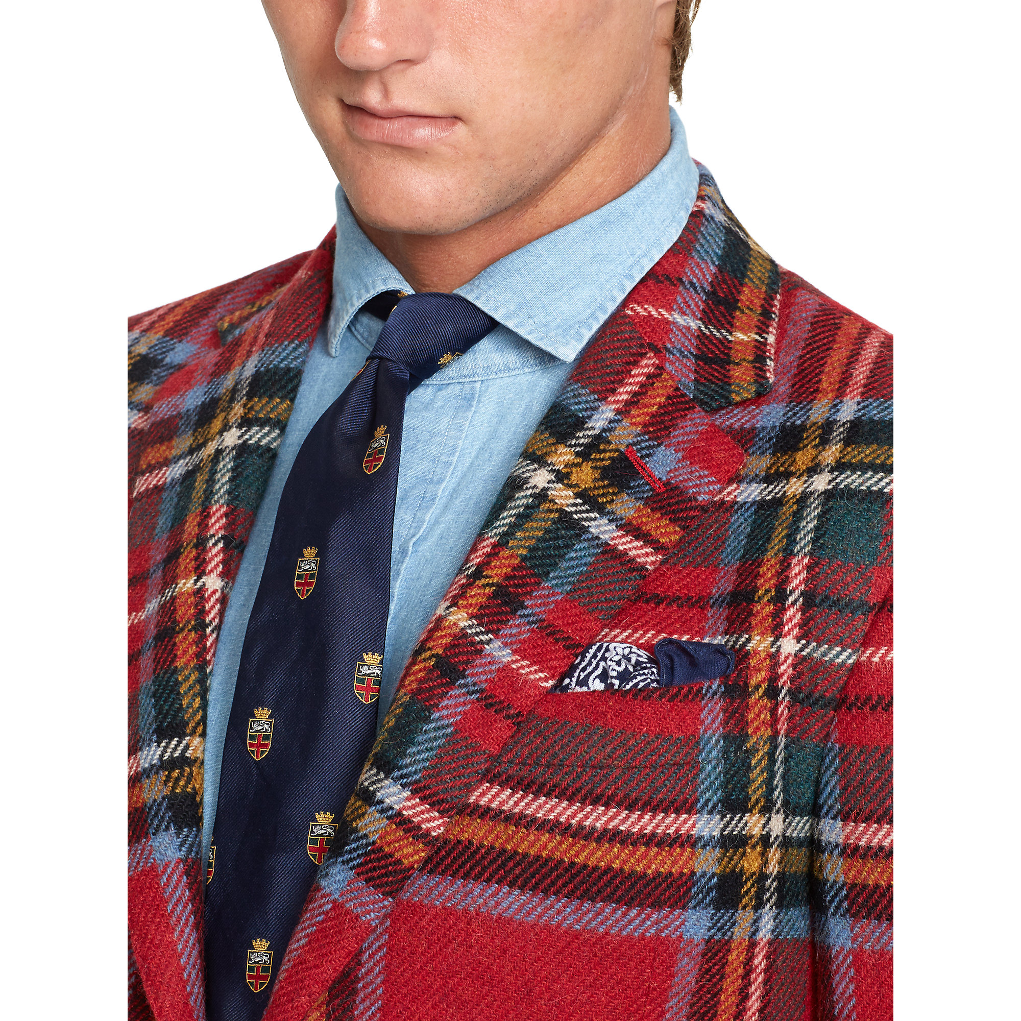 Polo Ralph Lauren Polo Plaid Sport Coat In Red For Men Lyst