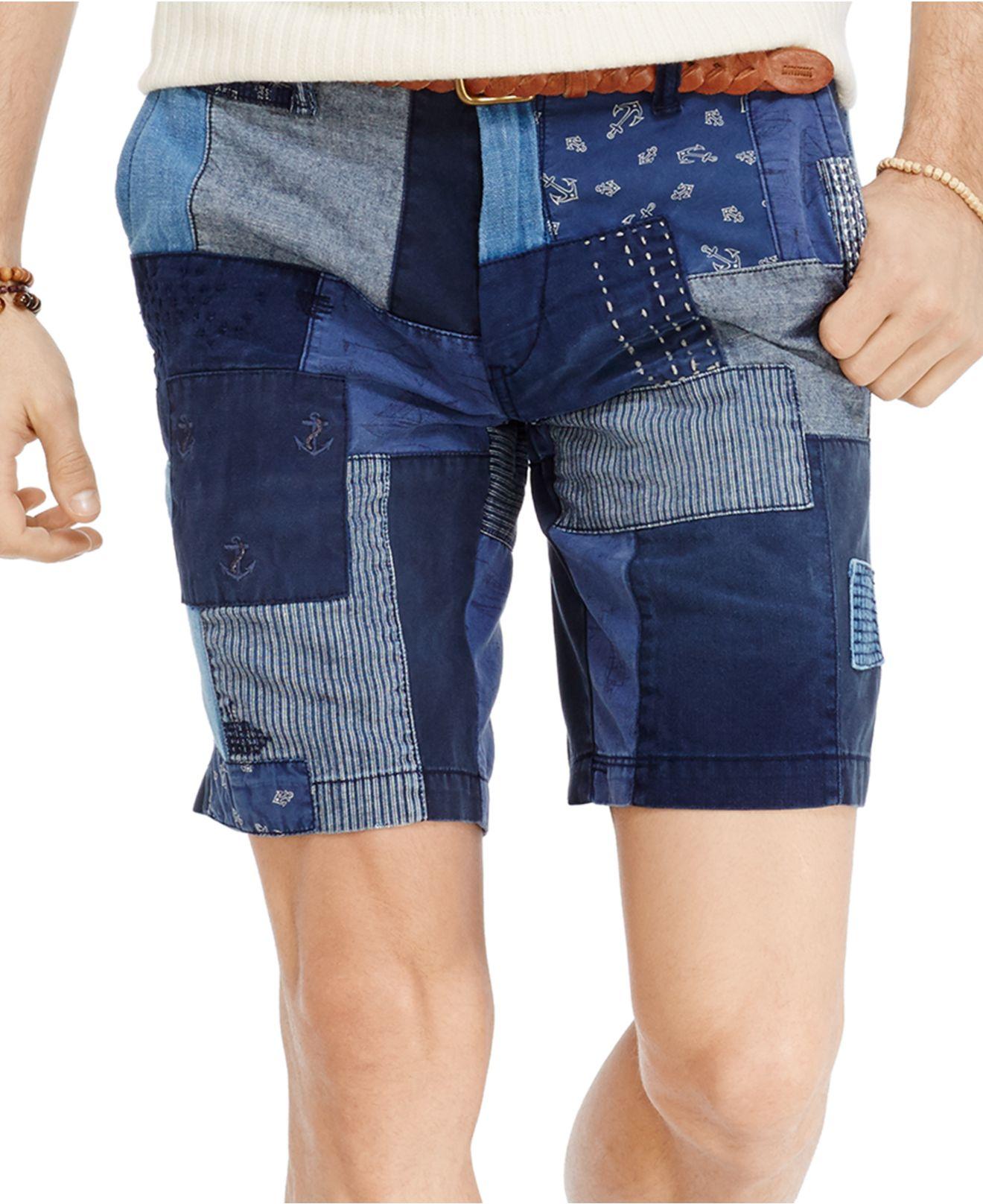 Polo Ralph Lauren Straight-fit Maritime Patchwork Shorts