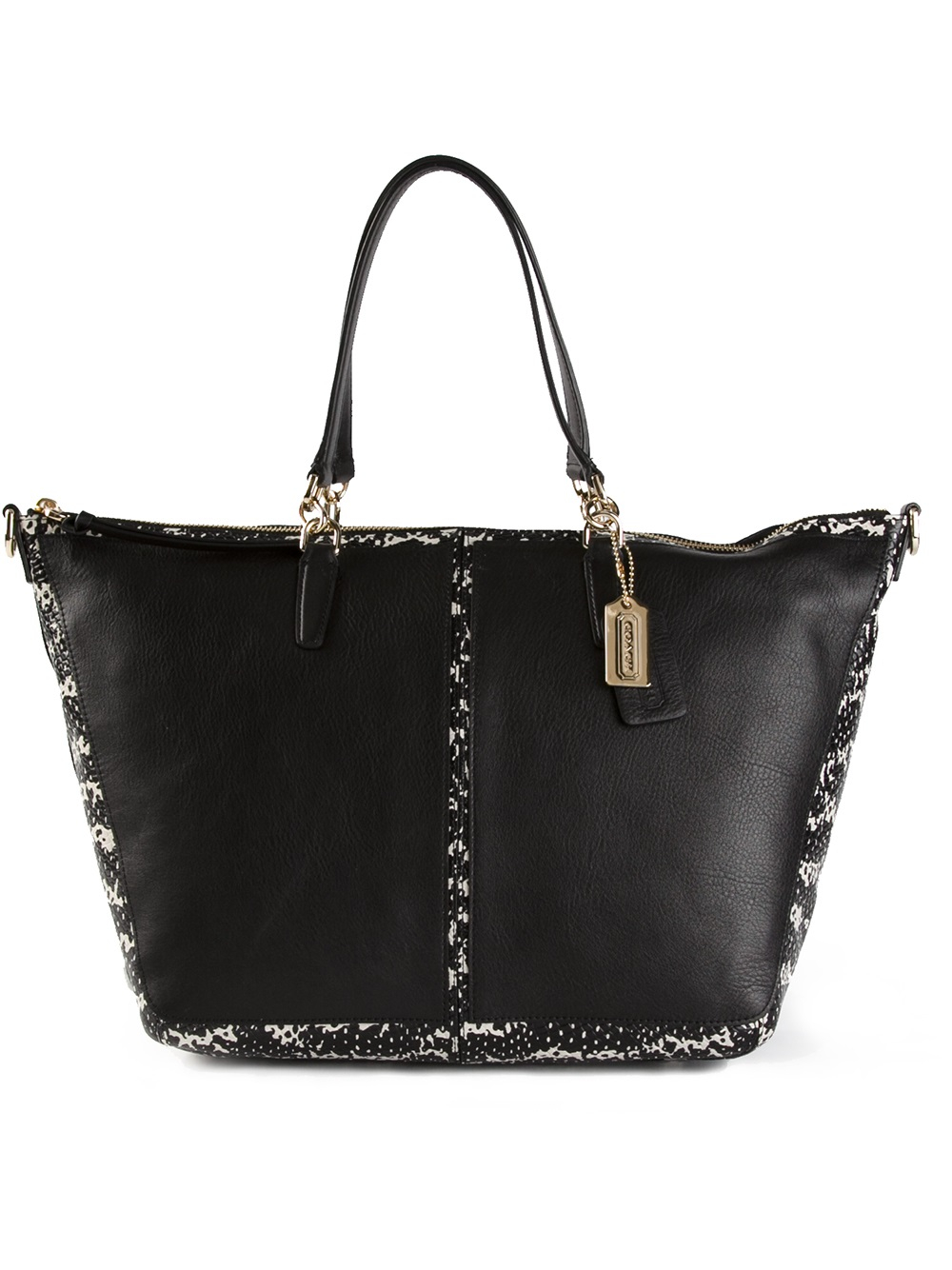 COACH Large Tote Bag in Black - Lyst