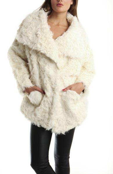 Iro Jemina Fur Coat in White