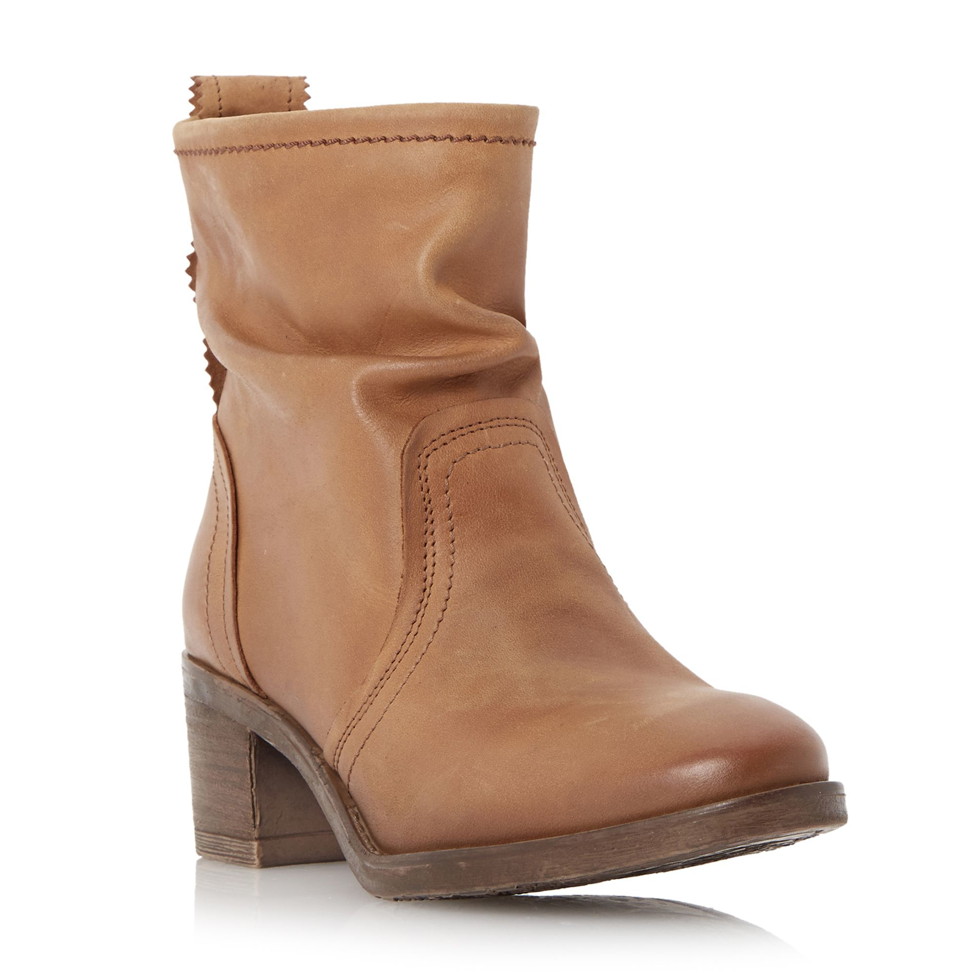 dune polizzi rouched ankle boots in brown lyst
