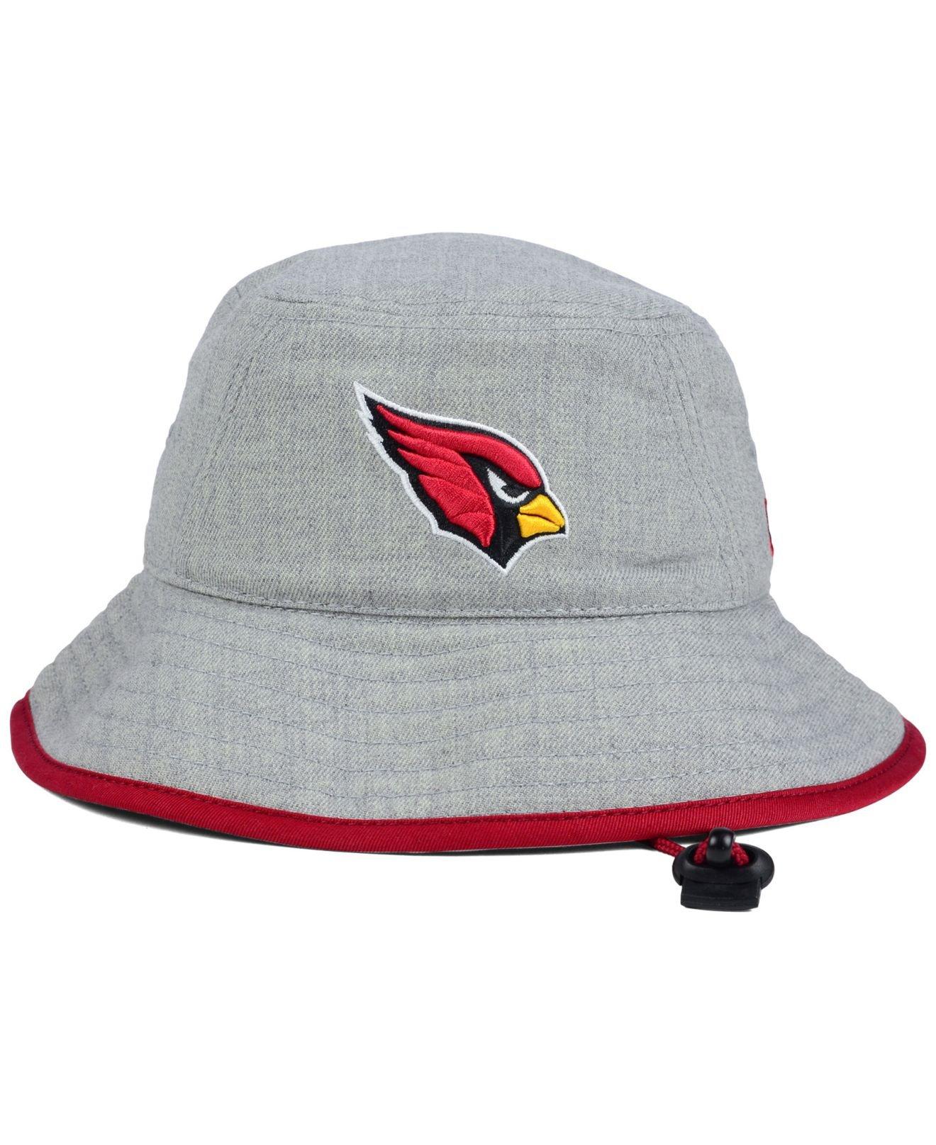 7d0ce4e9 KTZ Arizona Cardinals Nfl Heather Gray Bucket Hat for men