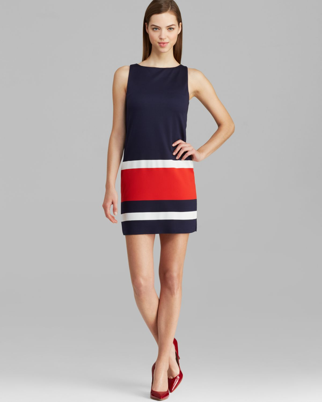 Bailey 44 Dress Sleeveless Benchwarmer Ponte Color Block