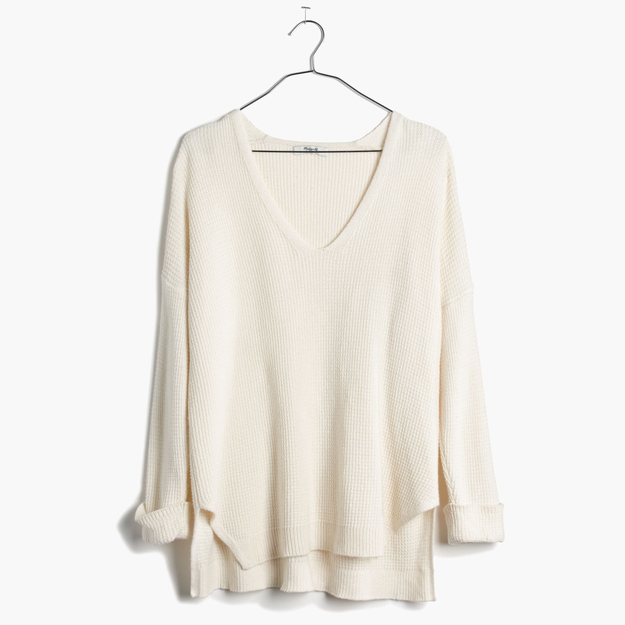 Madewell Oceanside Pullover Sweater in White | Lyst