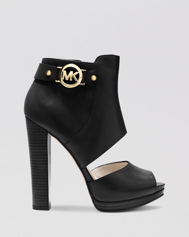 MICHAEL Michael Kors JESSIE OPEN TOE BOOTIE - High heeled sandals - black iC0WOFuA