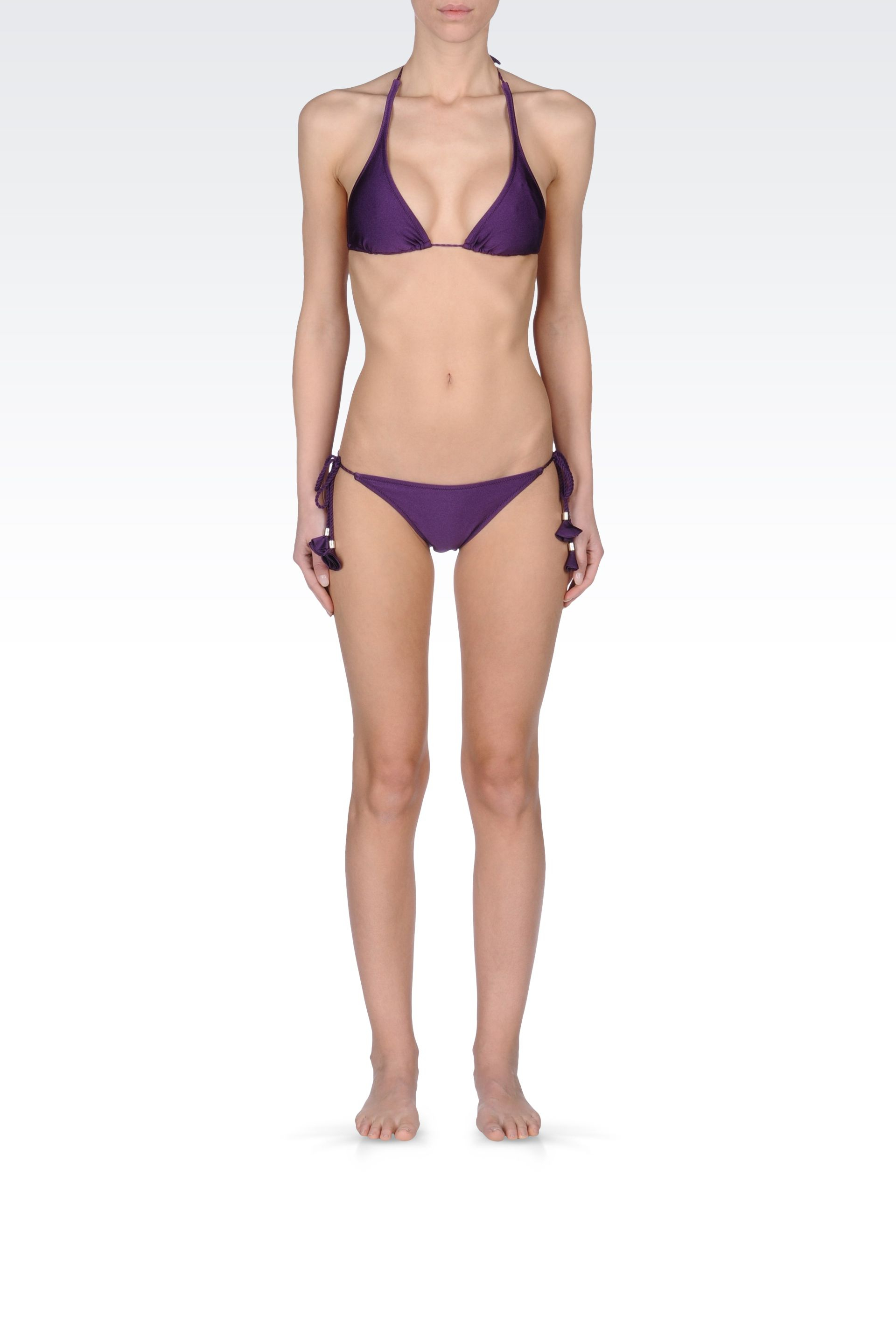 emporio armani bikini in purple dark purple lyst. Black Bedroom Furniture Sets. Home Design Ideas