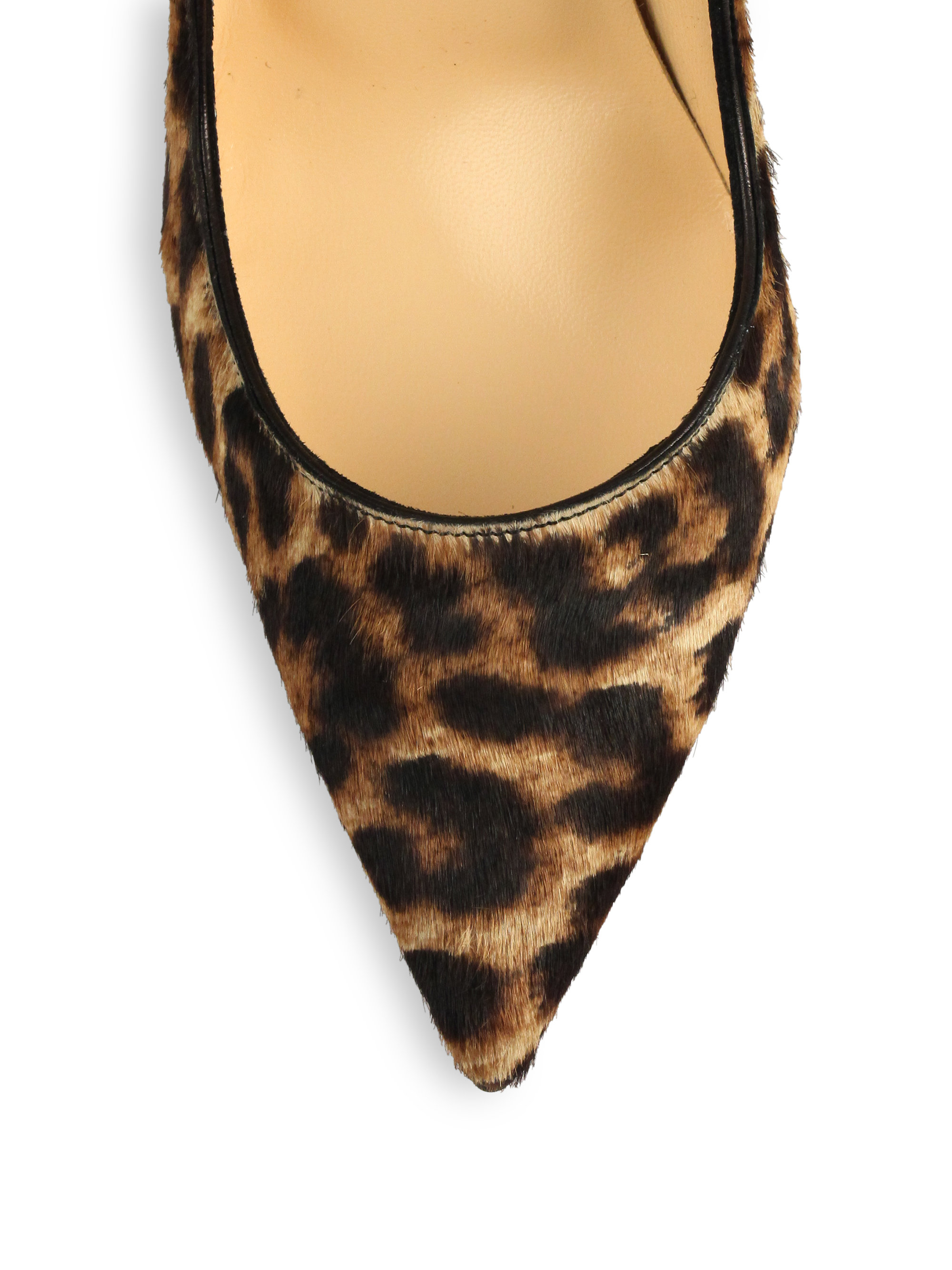 black and white louboutins - christian louboutin so kate leopard calf hair | Landenberg ...