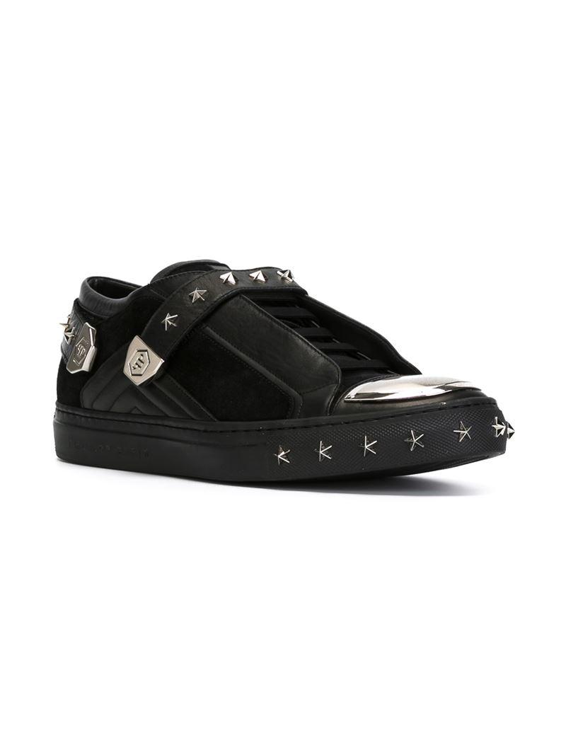 Lyst - Philipp Plein Star Studded Sneakers in Black for Men