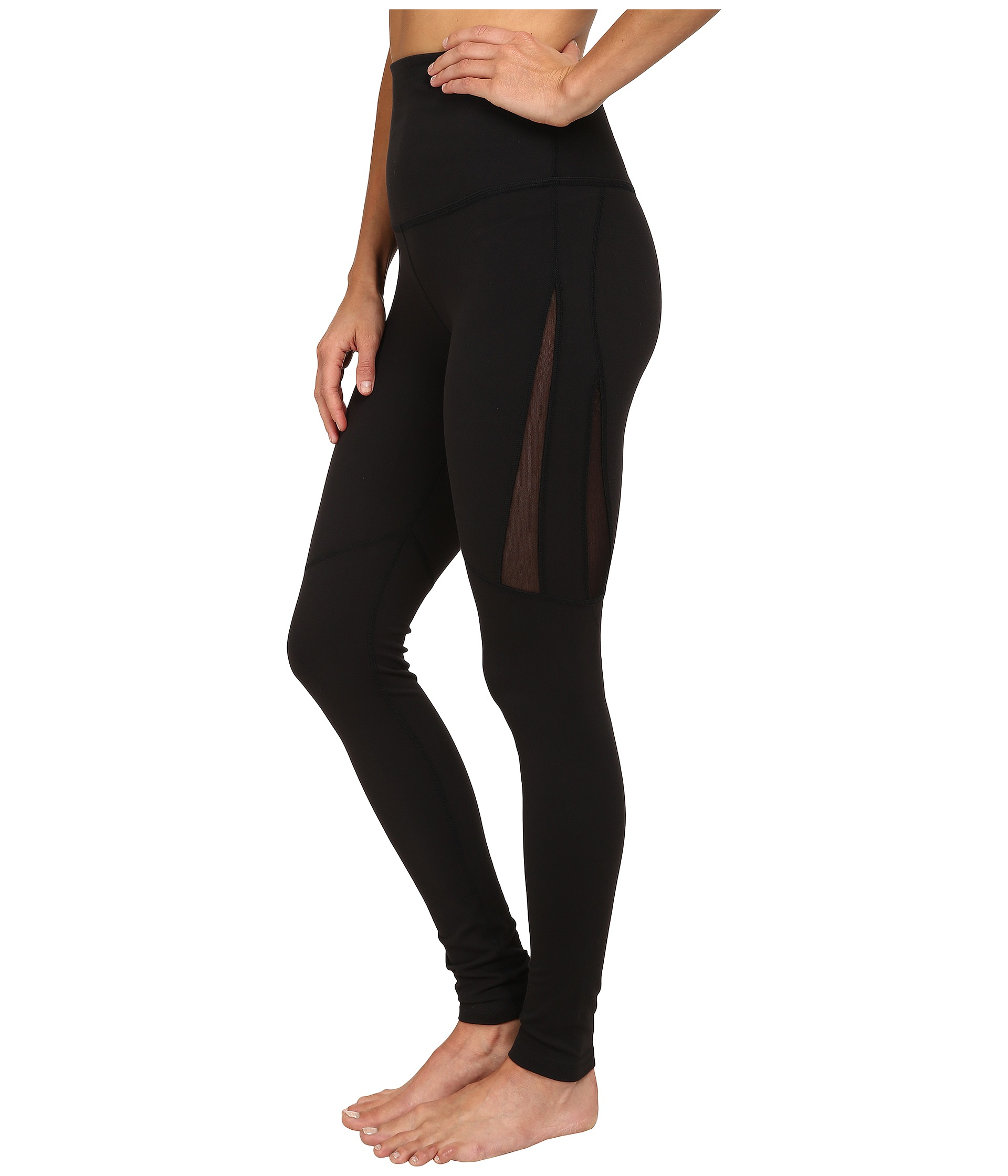 Beyond yoga High Waist Mesh Legging in Black | Lyst