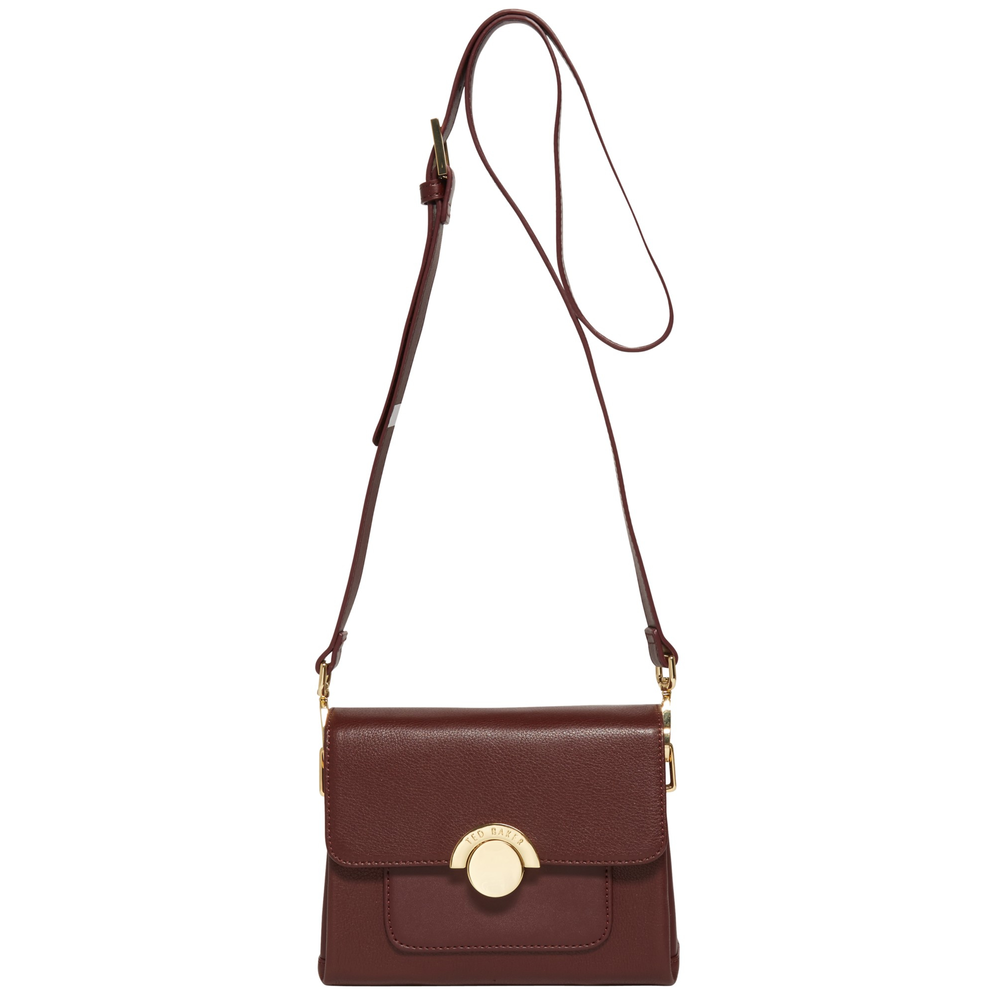 39a16b131433 Ted Baker Leaha Mini Leather Shoulder Bag in Brown - Lyst