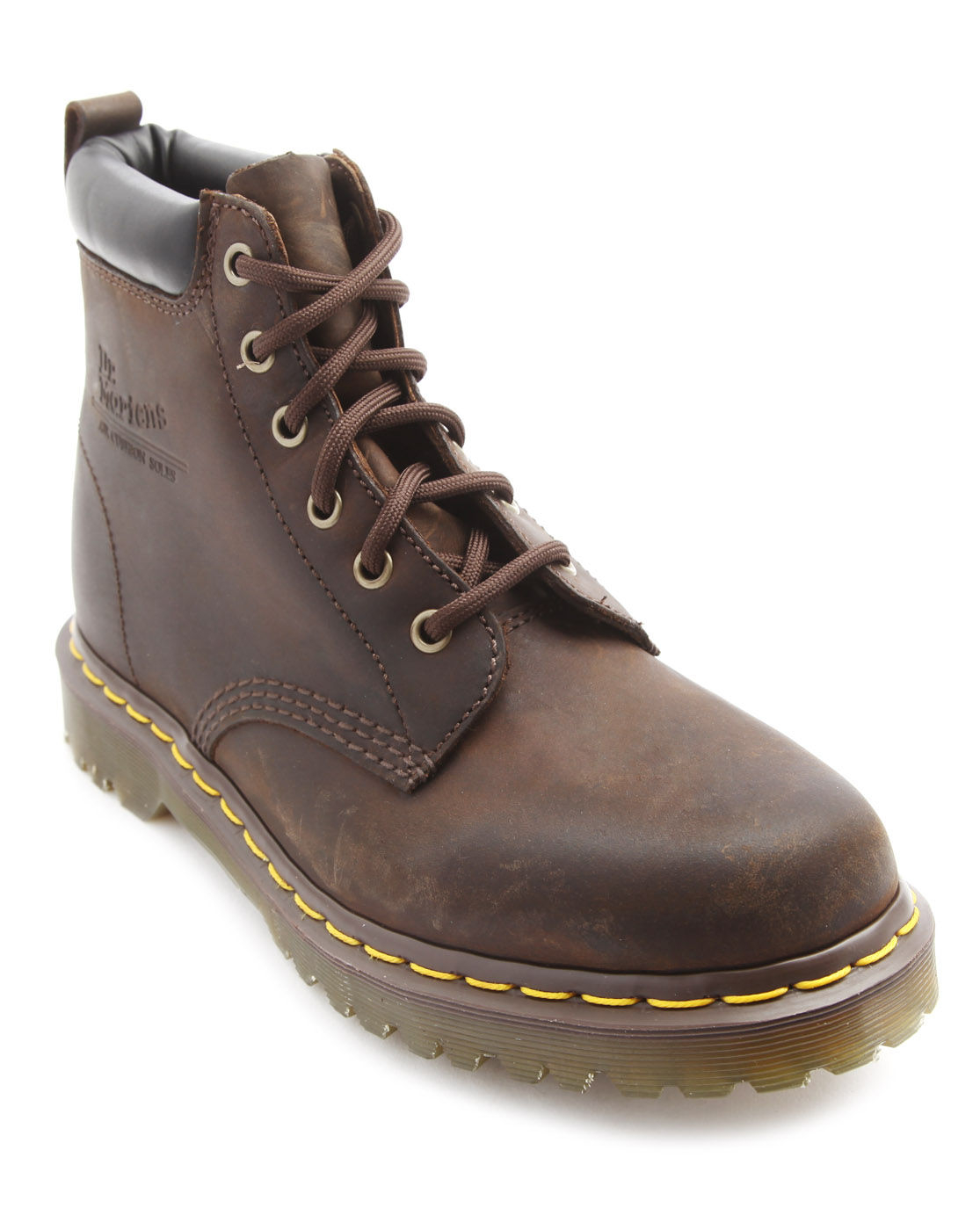 dr martens 939 brown leather boots in brown for lyst