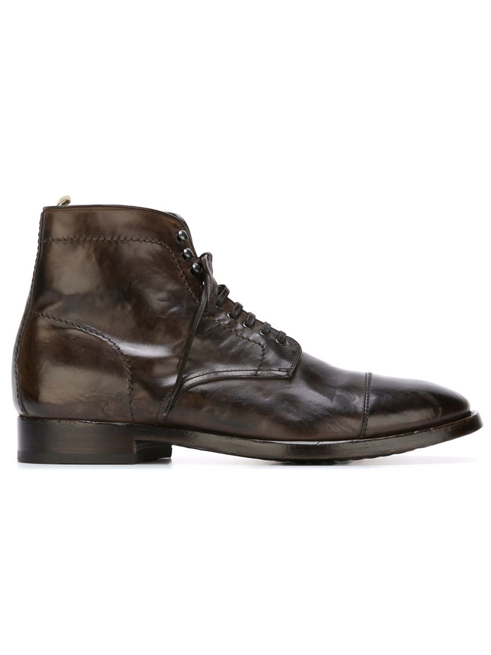 officine creative lace up boots in brown for lyst