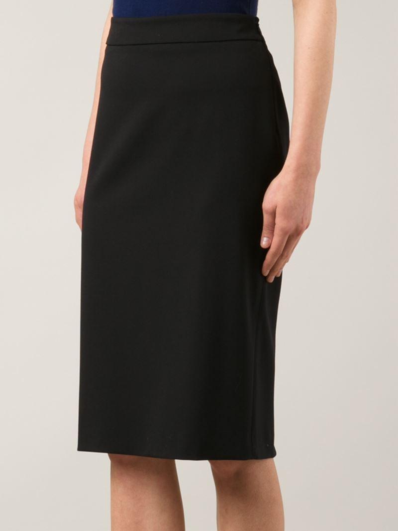 michael kors classic midi skirt in black lyst