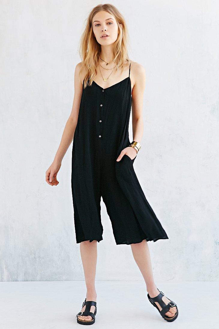 Black Midi Jumpsuit
