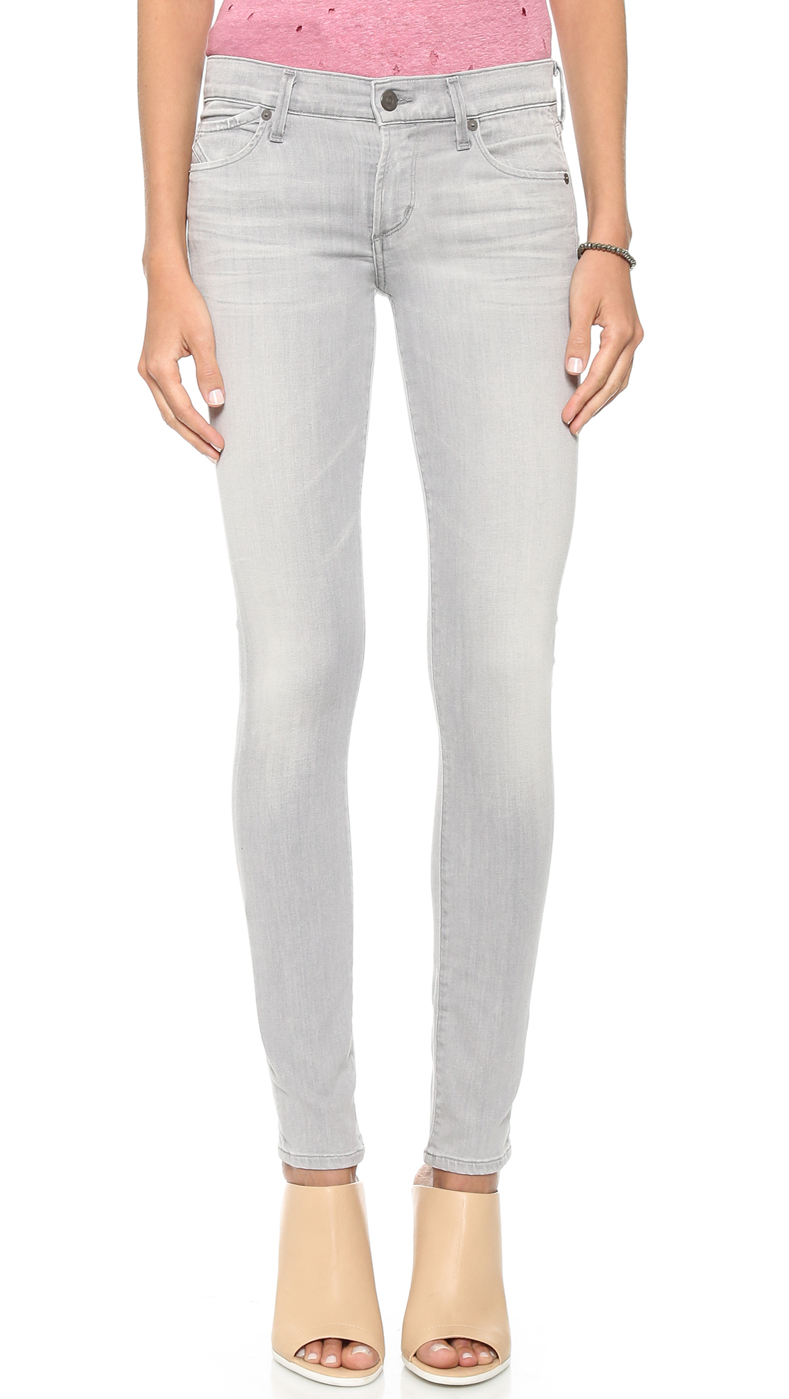 citizens of humanity avedon ultra skinny jeans in gray lyst. Black Bedroom Furniture Sets. Home Design Ideas