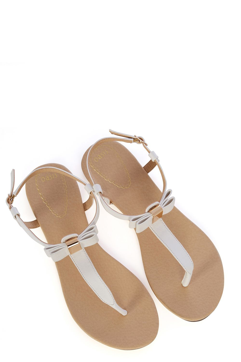 578f46c3c255d3 Oasis Bow Toepost in White - Lyst