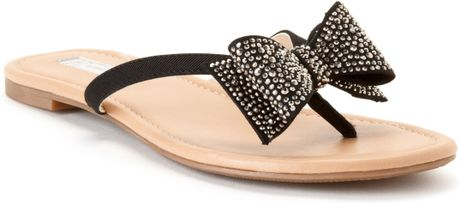 Inc International Concepts Womens Maey Bow Thong Sandals