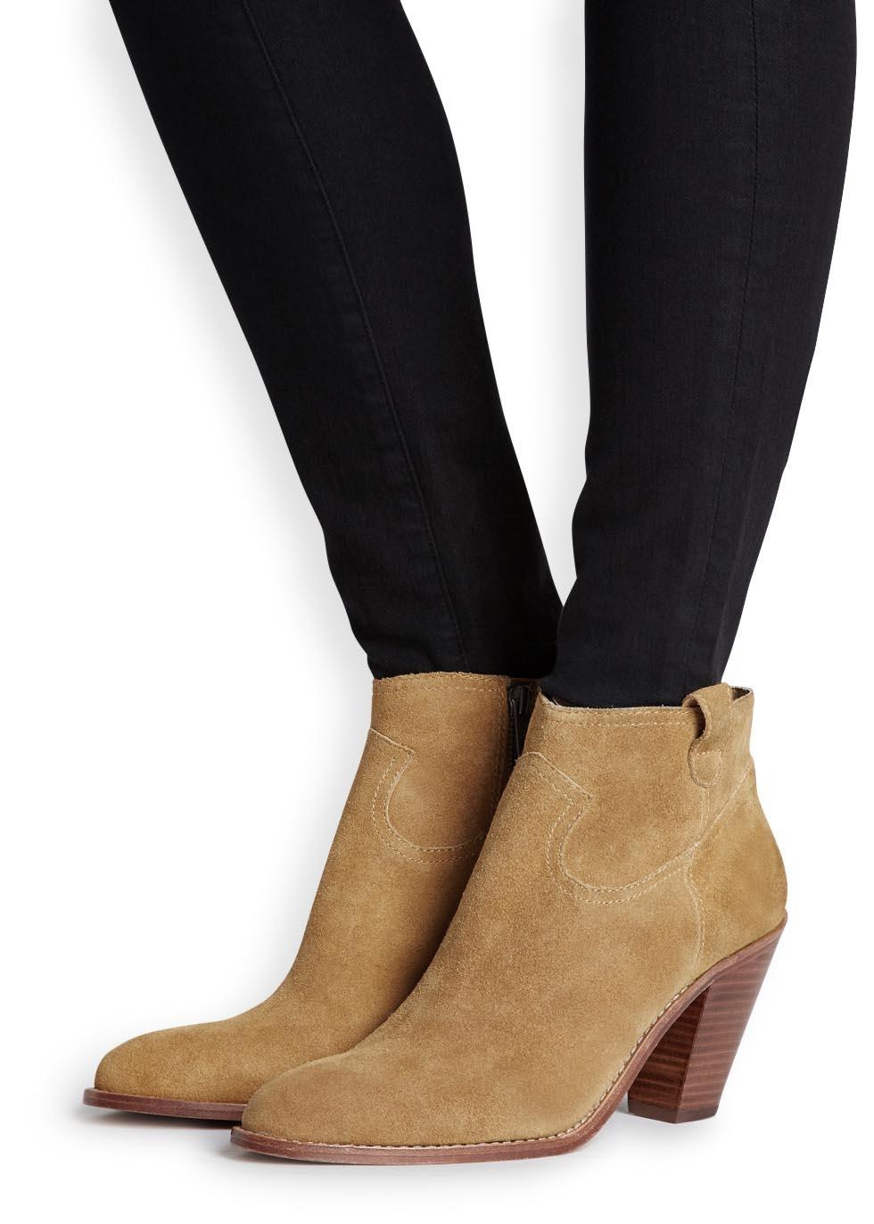 5dbdea546ba Ash Brown Ivana Camel Brushed Suede Ankle Boots
