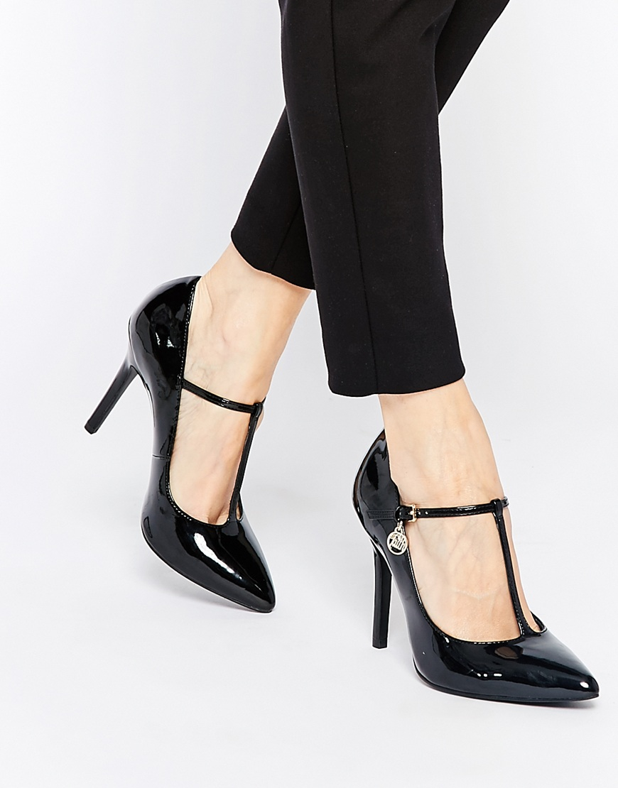 the cheapest fast delivery buy sale Faith Cartel T Bar Mary Jane Heeled Shoes in Black - Lyst