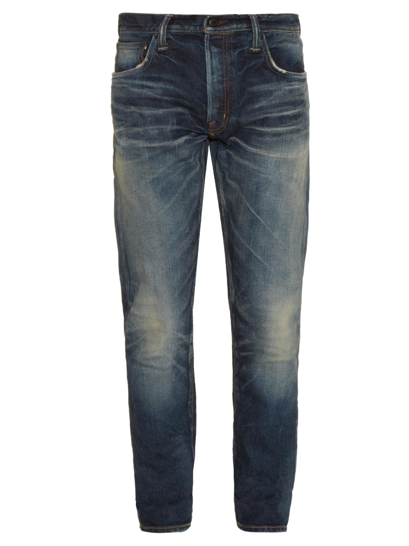 Mastercraft union Slim Taper Vintage-wash Jeans in Blue ...