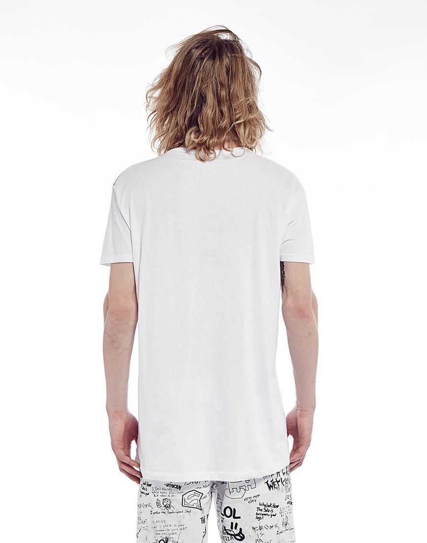 Brave soul brave soul long line short sleeve t shirt in for Long line short sleeve t shirt