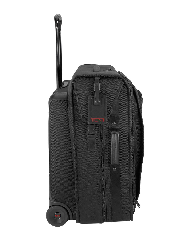 Black Alpha Wheeled Carry On Garment Bag