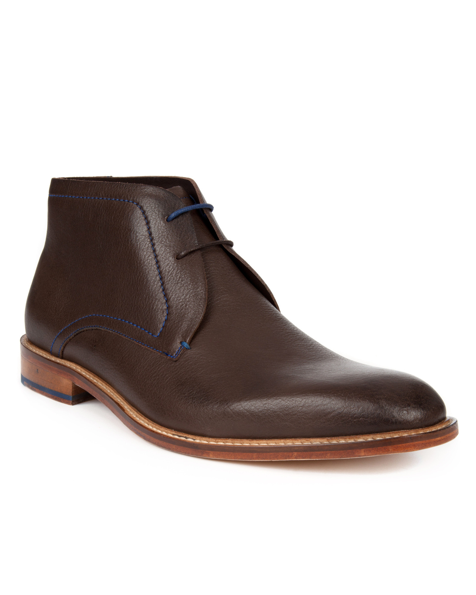 ted baker casual ankle boots in brown for lyst