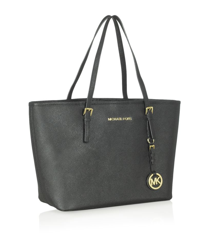 michael michael kors small jet set travel tote in gray. Black Bedroom Furniture Sets. Home Design Ideas