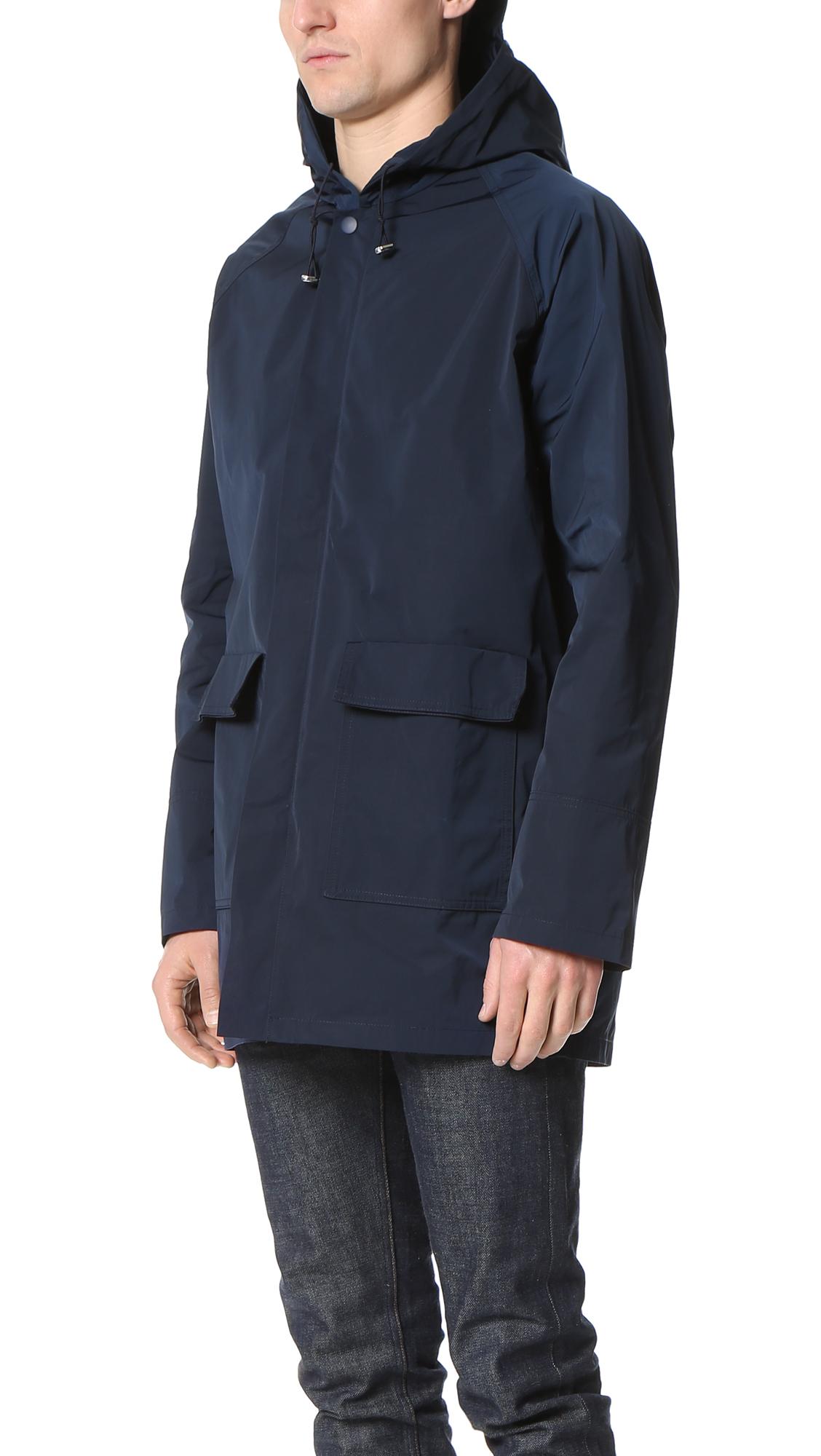 CAMO Synthetic Luke Memory Twill Rain Jacket in Navy (Blue) for Men