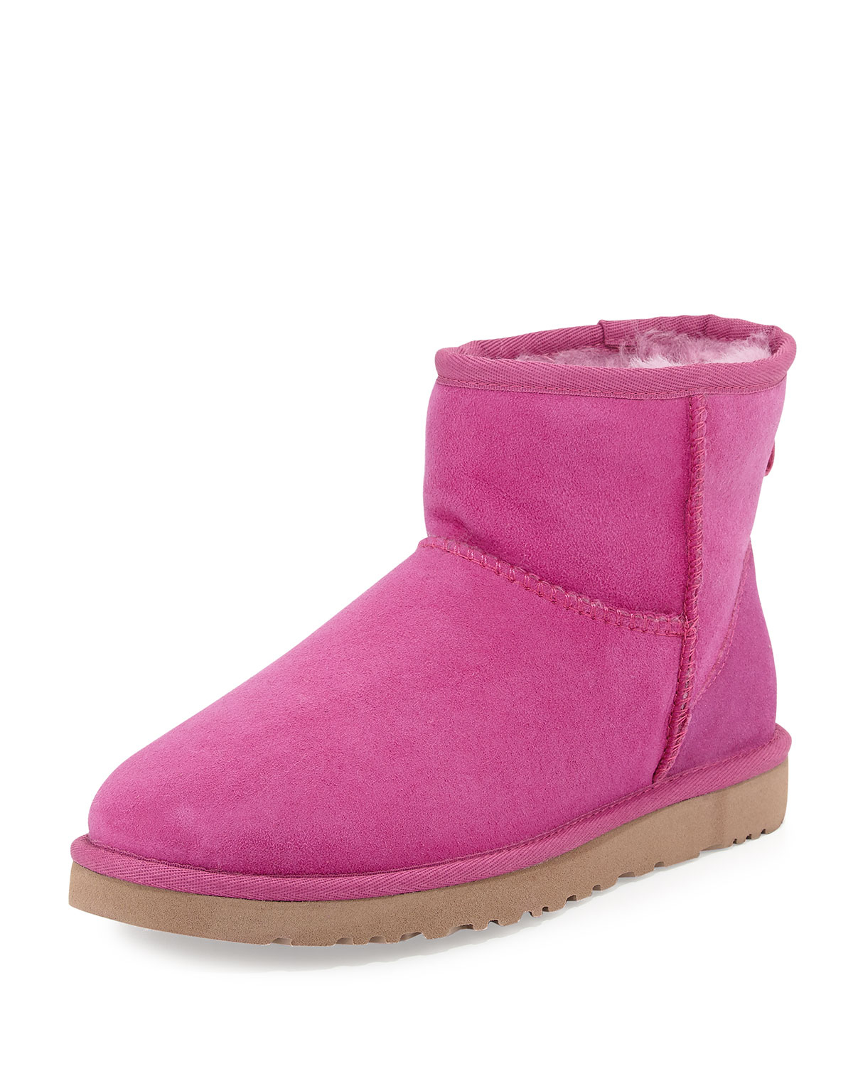 lyst ugg mini classic shearling boot in pink. Black Bedroom Furniture Sets. Home Design Ideas
