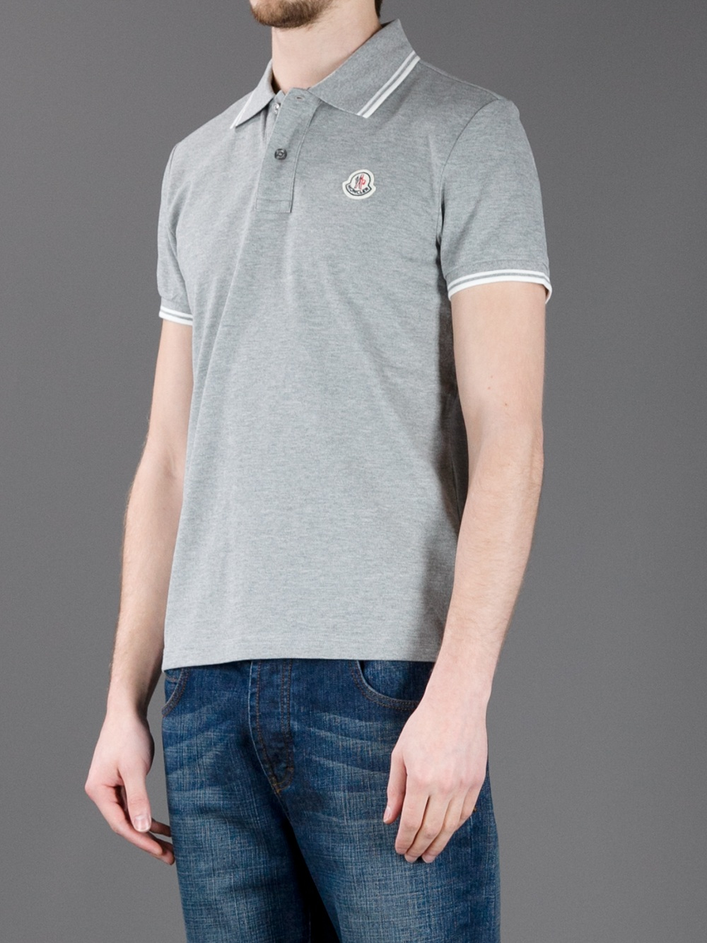 grey moncler shirt