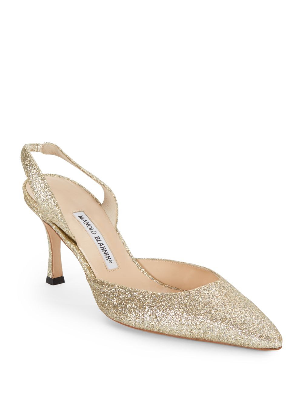 Manolo Blahnik Metallic Carolyne Slingback Pumps view online from china cheap online cheap websites outlet Manchester llZdy