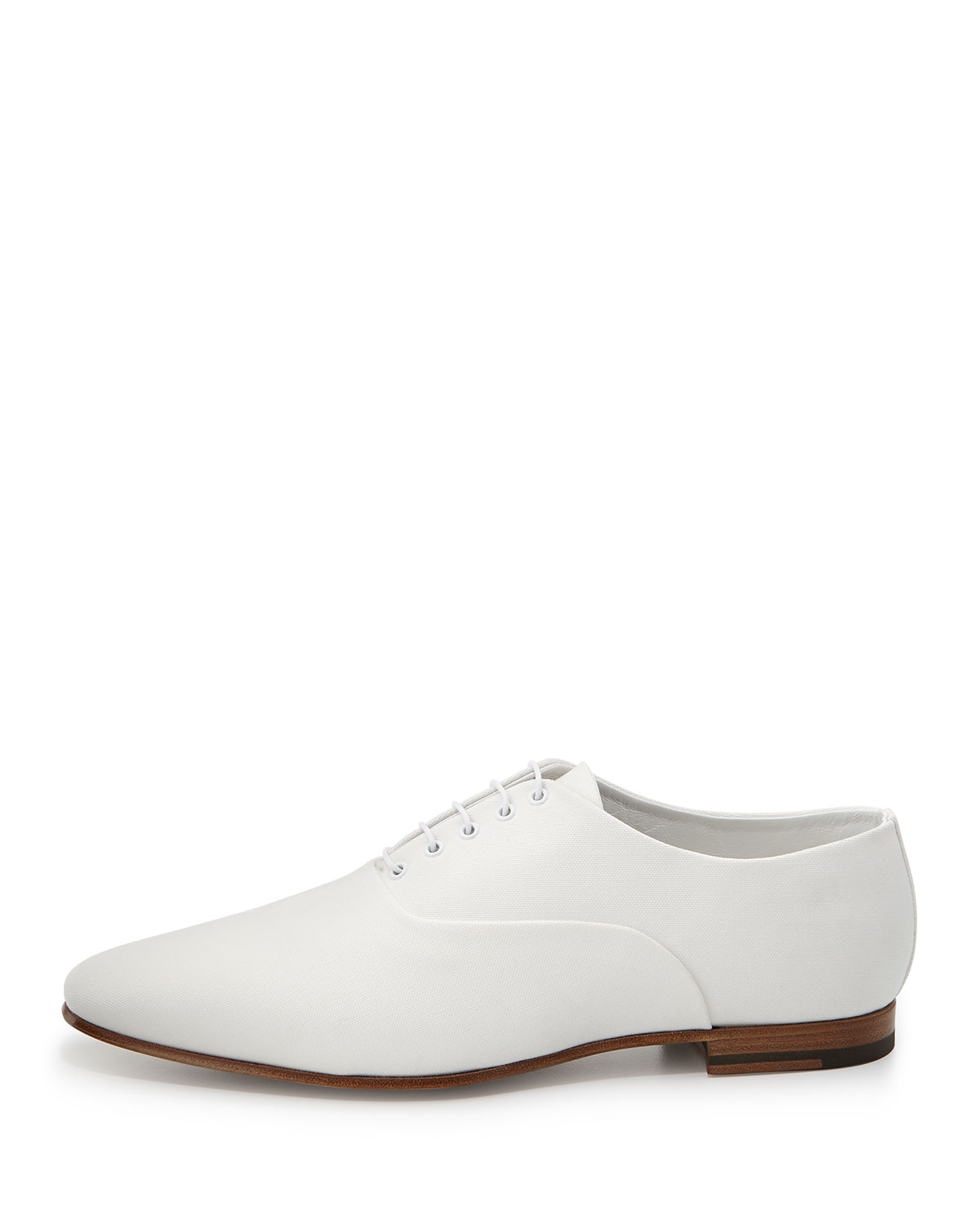 laurent lulu canvas oxford shoe white in white for